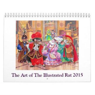 El arte del calendario ilustrado 2015 de la rata