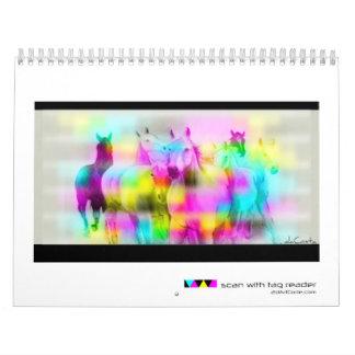 El arte del código de barras del daCosta de Bret Calendarios De Pared