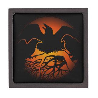 El arte del cuervo encajona las cajas de regalo na cajas de recuerdo de calidad