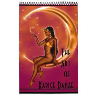 El arte del danae de Karice calendario de 12 meses