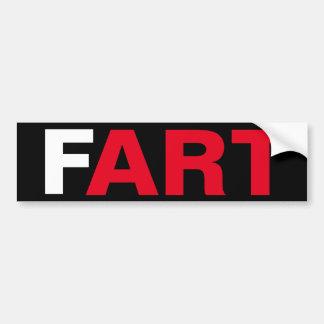 El ARTE del FART Pegatina Para Auto