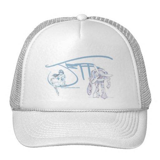 El arte del gorra de Jeff Herndon (azul/blanco)