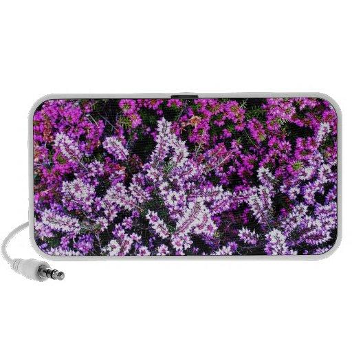 El arte del hermoso diseño florece color floral de iPhone altavoz