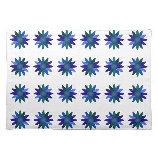 El arte del hermoso diseño florece color floral de mantel individual