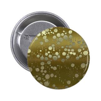 el arte del metal cae de oro pin redondo 5 cm