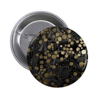 el arte del metal cae negro pin redondo 5 cm
