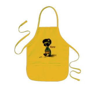El arte del niño del delantal embroma cocinar de l