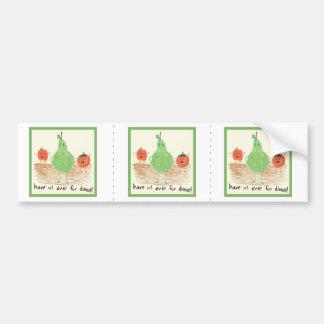 El arte del niño, verde pegatina de parachoque