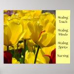El arte del oficio de enfermera imprime los tulipa poster