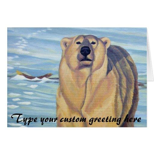 El arte del oso polar carda tarjetas de encargo de