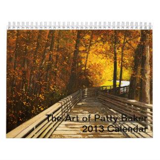 El arte del panadero de Patty Calendario De Pared
