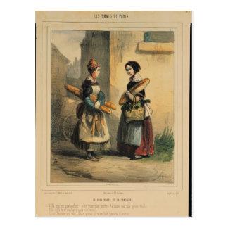 El arte del panadero placa número 27 postales