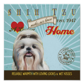 El arte del perro de Shih Tzu Poster-Hace nuestro