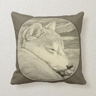 El arte del perro el dormir de la almohada de