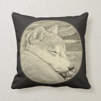 El arte del perro el dormir de la almohada de Shib