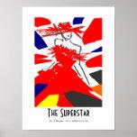El arte del poster de la superestrella