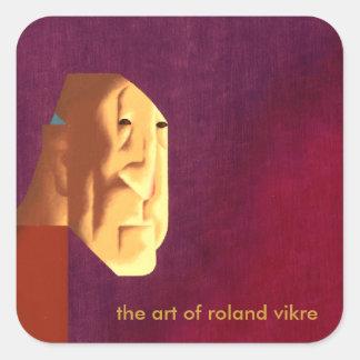 el arte del vikre de Roland Pegatina Cuadrada