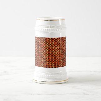 El arte del vintage del papel pintado de los jarra de cerveza