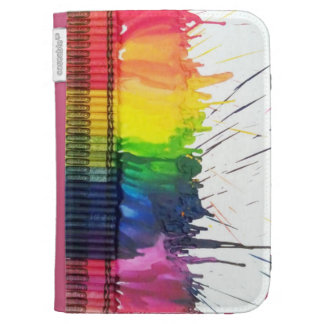 El arte derretido arco iris del creyón enciende el