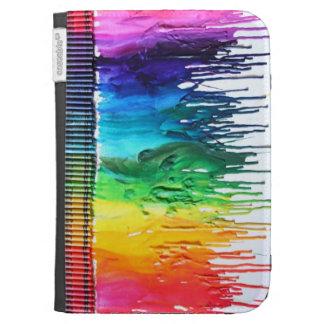 El arte derretido arco iris del creyón enciende la
