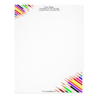 El arte dibujó a lápiz el papel con membrete plantillas de membrete