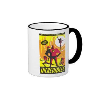 El arte Disney del poster de Incredibles Taza De Dos Colores