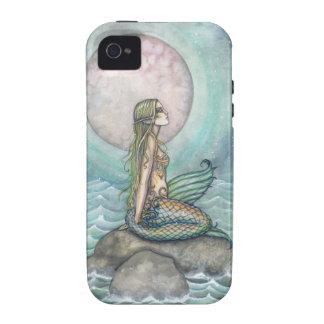 El arte en colores pastel de la sirena del mar vibe iPhone 4 carcasa