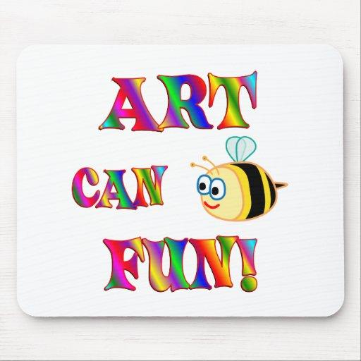 El arte es diversión tapetes de ratones