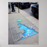 el arte es el cielo debajo de sus pies poster