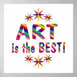 El arte es el mejor - comenzando en $11,80 poster