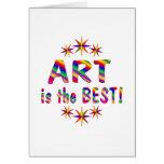 El arte es el mejor tarjeta