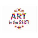 El arte es el mejor tarjetas postales