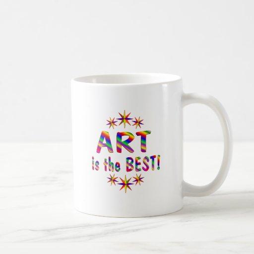 El arte es el mejor tazas
