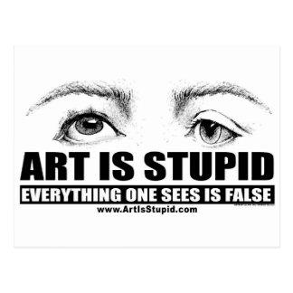 El arte es estúpido postales