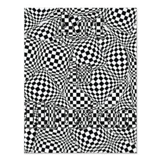 """El arte es ilusión invitación 4.25"""" x 5.5"""""""