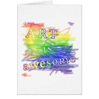 El arte es impresionante felicitacion