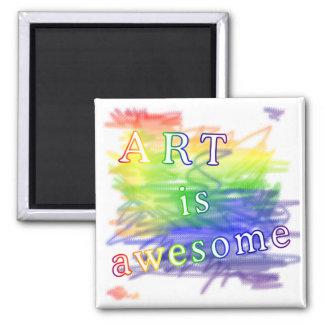 El arte es impresionante imán de frigorífico