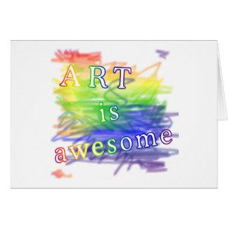 El arte es impresionante tarjetas