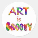 El arte es maravilloso etiqueta