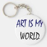 El arte es mi mundo llaveros