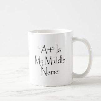 El arte es mi nombre medio taza