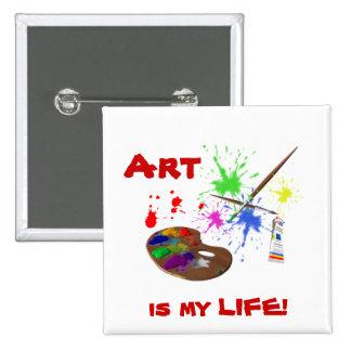 ¡El arte es mi VIDA - Paleta del arte Pin