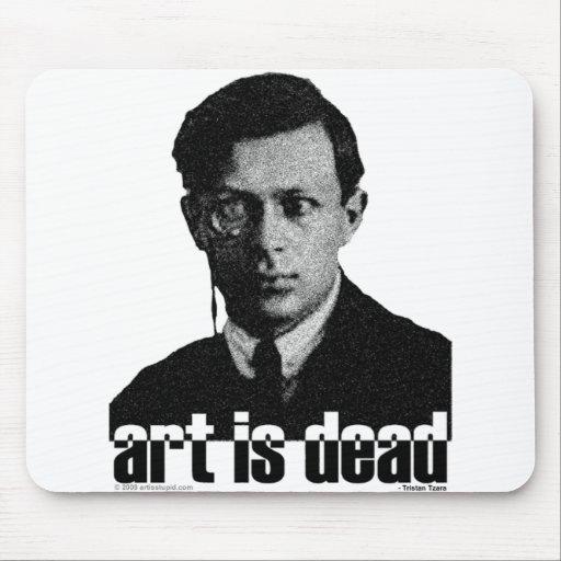 El arte es muerto alfombrilla de ratón