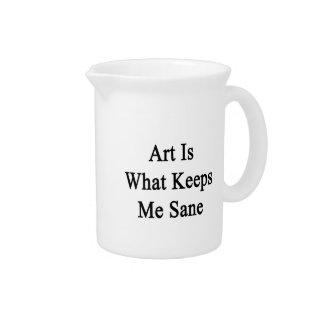 El arte es qué me mantiene sano jarra