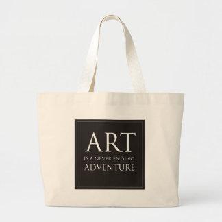 El arte es una aventura interminable bolsa tela grande