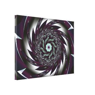 El arte espiral estiró la impresión de la lona impresión en tela