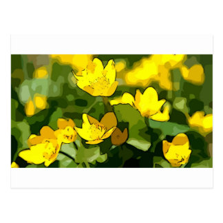 El arte florece para la primavera, maravilla de postal
