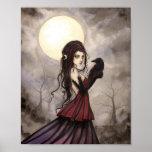 El arte gótico de Wiccan de la mujer de la fantasí Impresiones