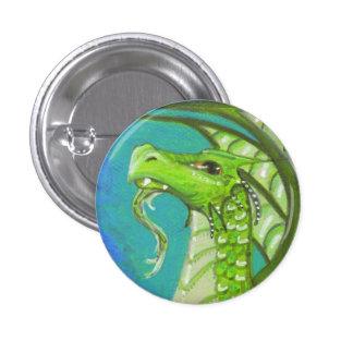 El arte grande barbudo de la fantasía del dragón v pin redondo de 1 pulgada