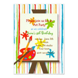 El arte hace invitaciones de la fiesta a mano de invitación 12,7 x 17,8 cm